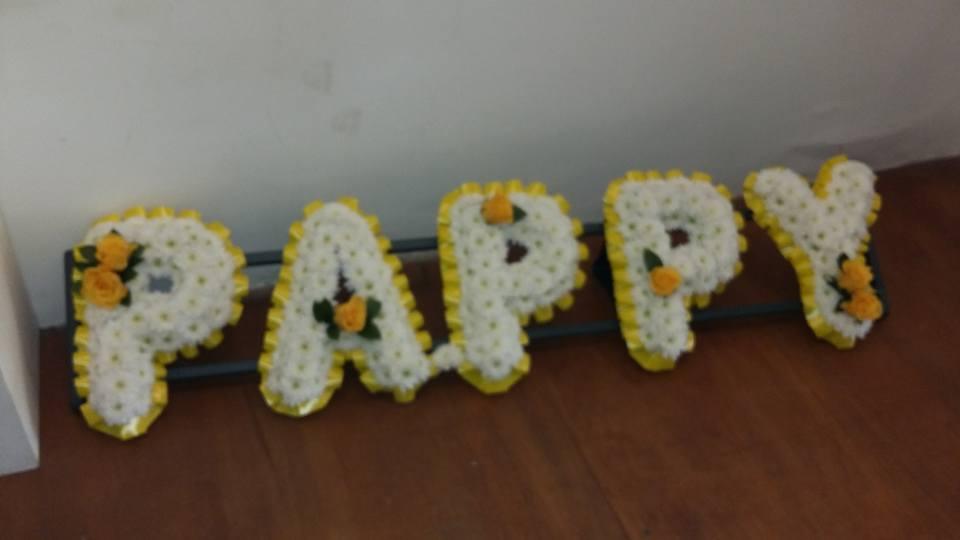sympathyarrangement cottonbuds florists Northampton