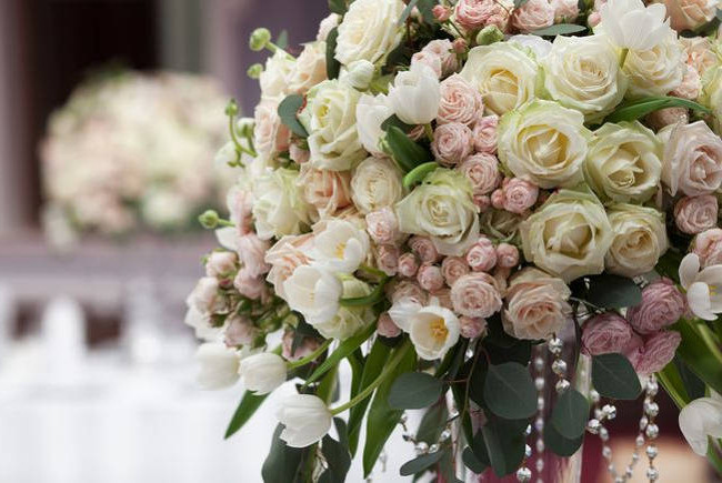 Wedding flowers from Cottonbuds Florists